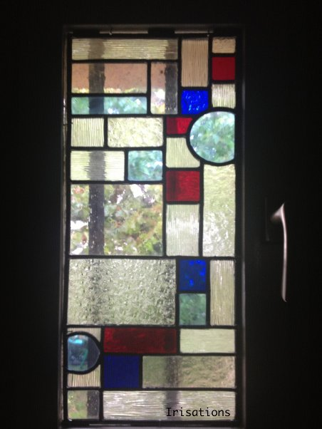 Art deco stained glass initiation class