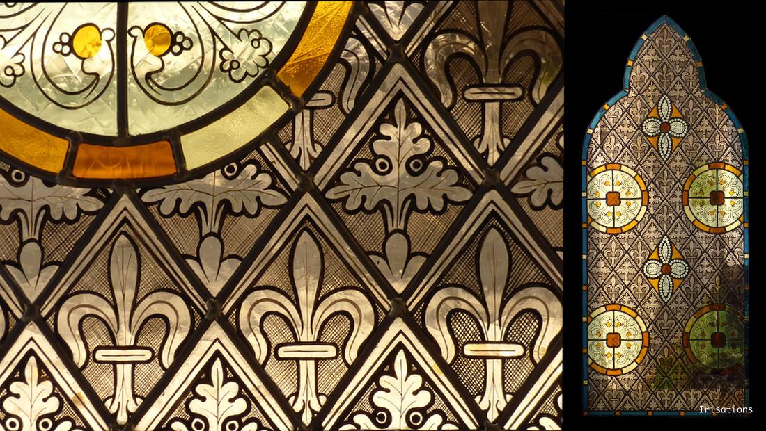 Vitrail art/ /D/écoration Statique/ /Rosace Grisaille D/étails 1