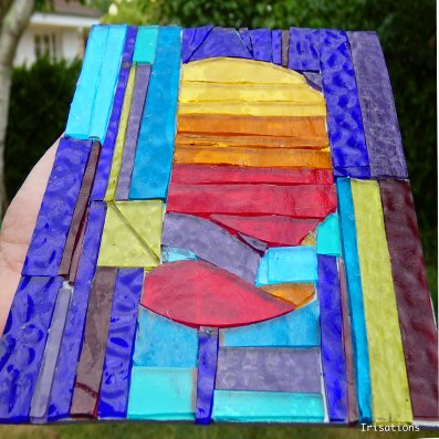 Glass Mosaic initiation workshop abstract paris versailles france