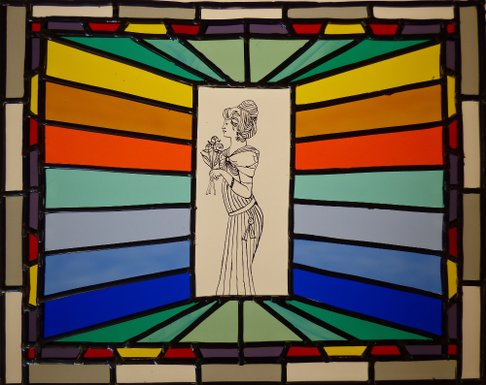 Stained glass painting initiation class, grisaille glass painting