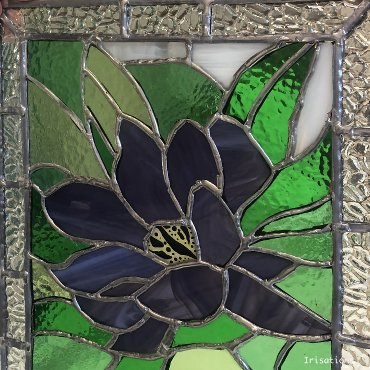 Personal project, stained glass nenuphar. Stained glass class paris versailles france