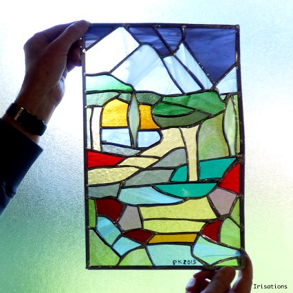 Scenery copper-foiled stained glass class paris versailles