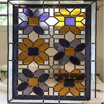 Professional education. geometric stained glass window.