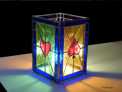 Stained glass table lamp class