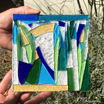 Glass Mosaic initiation workshop abstract nature paris versailles france