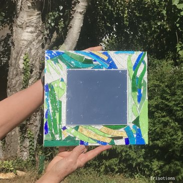 Glass Mosaic mirror initiation workshop abstract nature paris versailles france